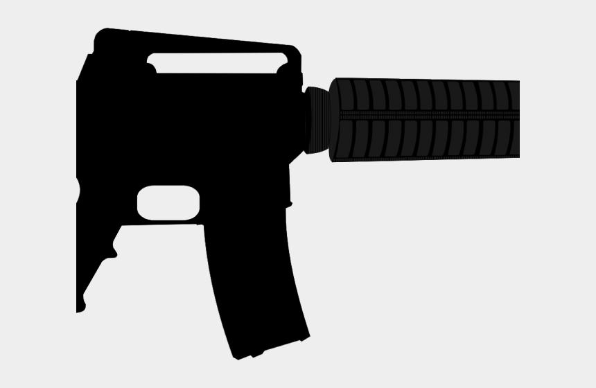 gun clipart, Cartoons - Gun Clipart Long Gun - Airsoft Guns M4a1 Carbine