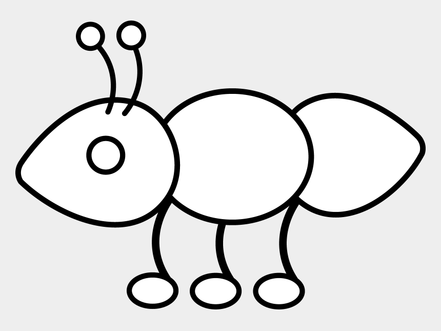 ant clipart, Cartoons - Ant - Clip - Art - Outline Of A Ant