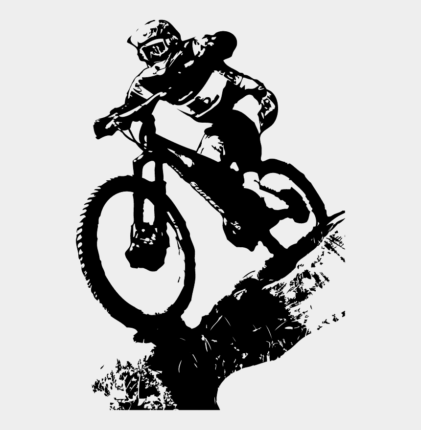 bike clipart, Cartoons - Mountain Bicycle Tattoo Cross Bike Cycling Biking Clipart - Downhill Mountain Bike Logo
