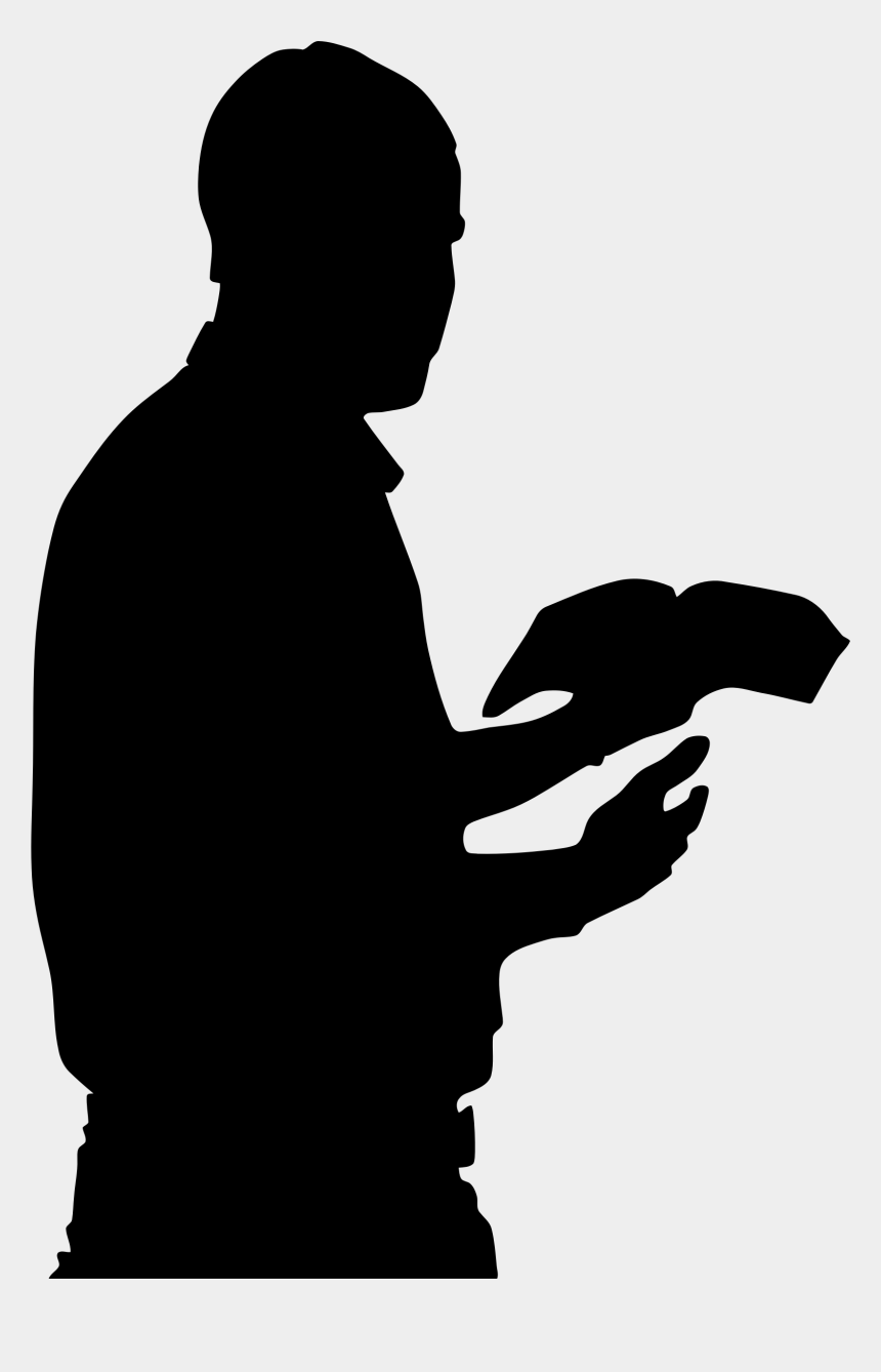 praying hands clipart, Cartoons - Pray Vector God Hand - Man With Bible Silhouette