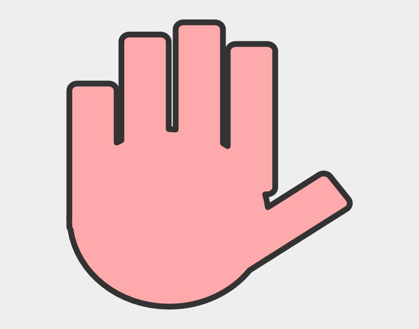 praying hands clipart, Cartoons - Flat Hand Pink Clip Art