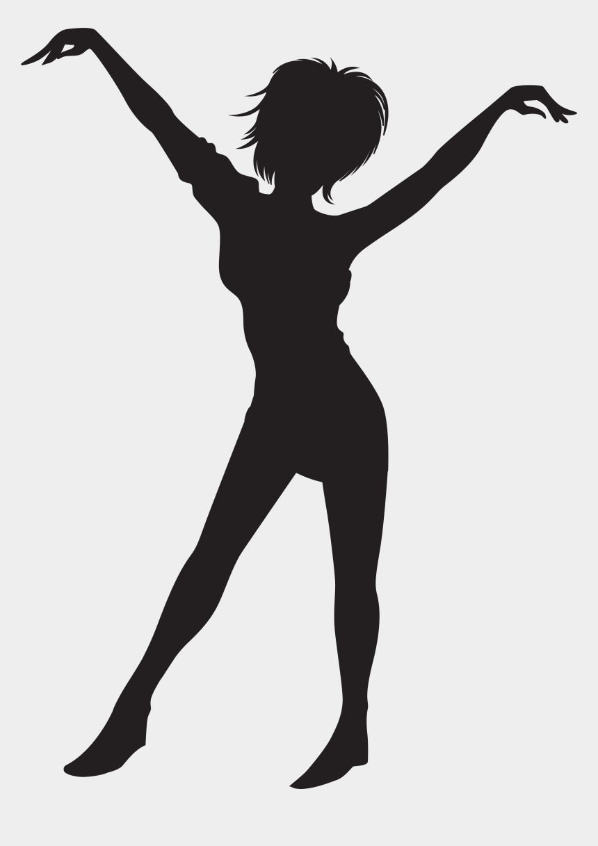 Clipart Black And White Library Dancing Girl Silhouette Transparent Jazz Dancers Silhouette Cliparts Cartoons Jing Fm