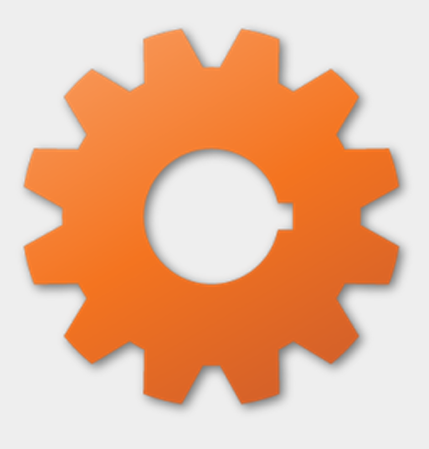 gear clipart, Cartoons - Colorful Gears Cliparts - Orange Gear Icon Png