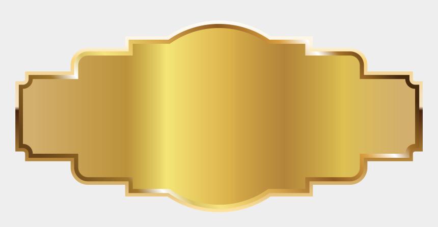 gold clipart, Cartoons - Sticker Transparent Gold - Transparent Golden Name Plate