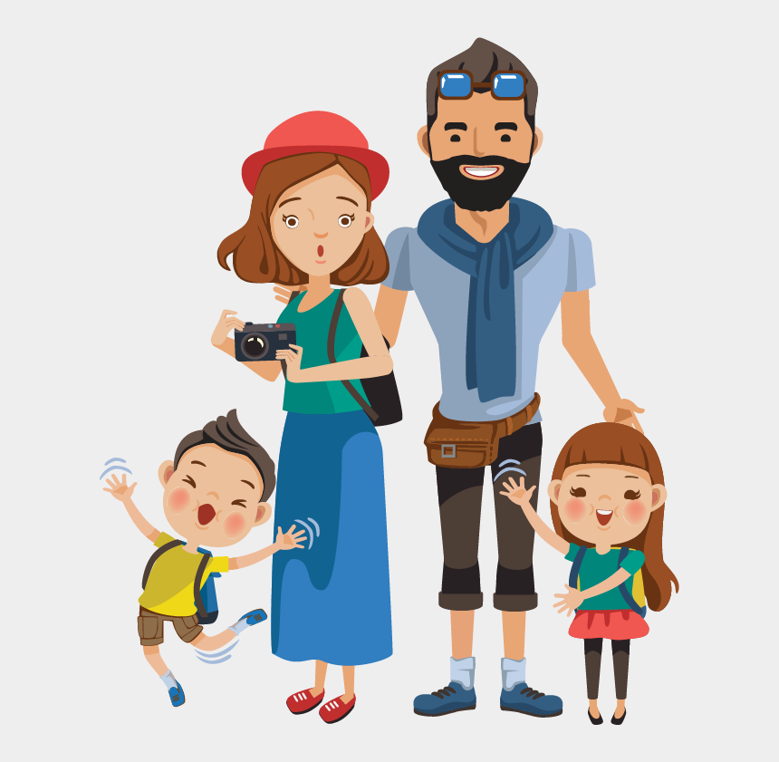 airport clipart, Cartoons - Airport Clipart Family Visit - Tourist Png