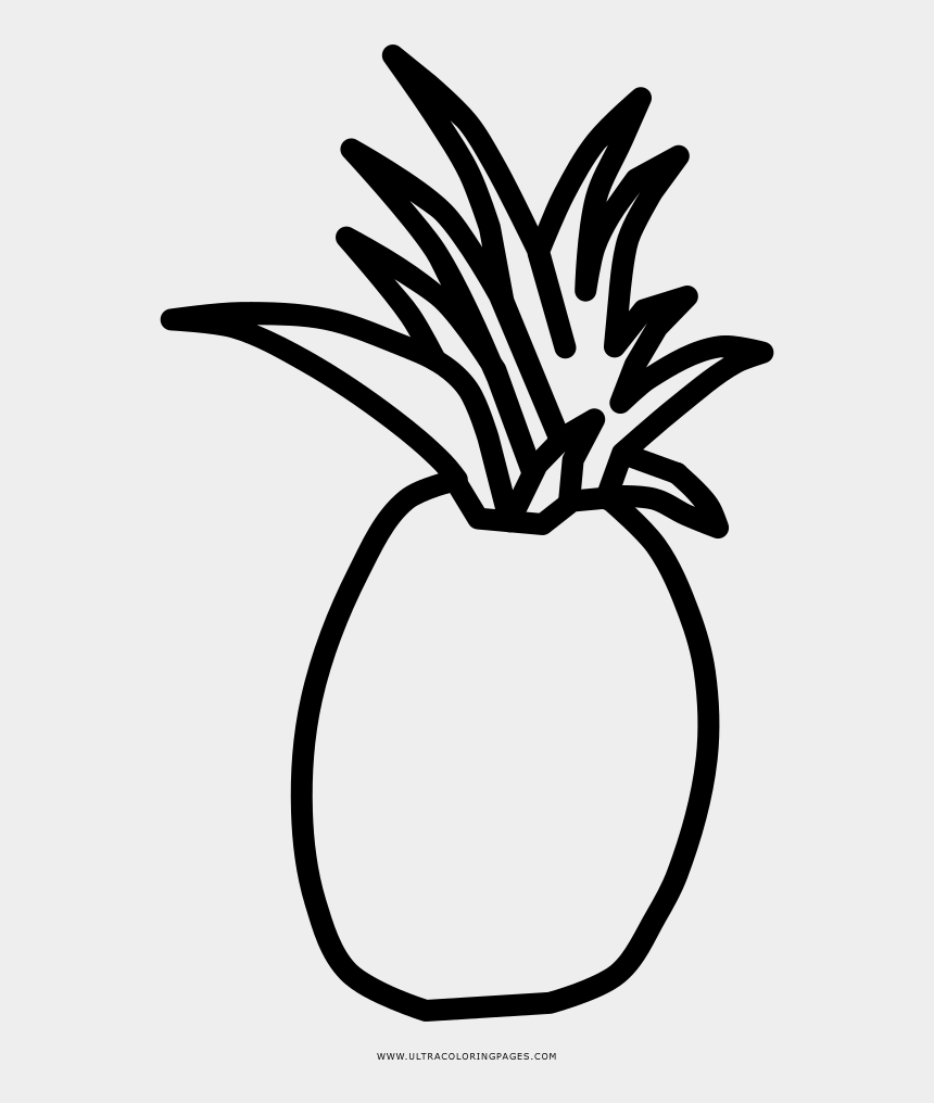 pineapple black and white clipart, Cartoons - Pineapple Coloring Page - Pineapple Clipart Black And White To Draw