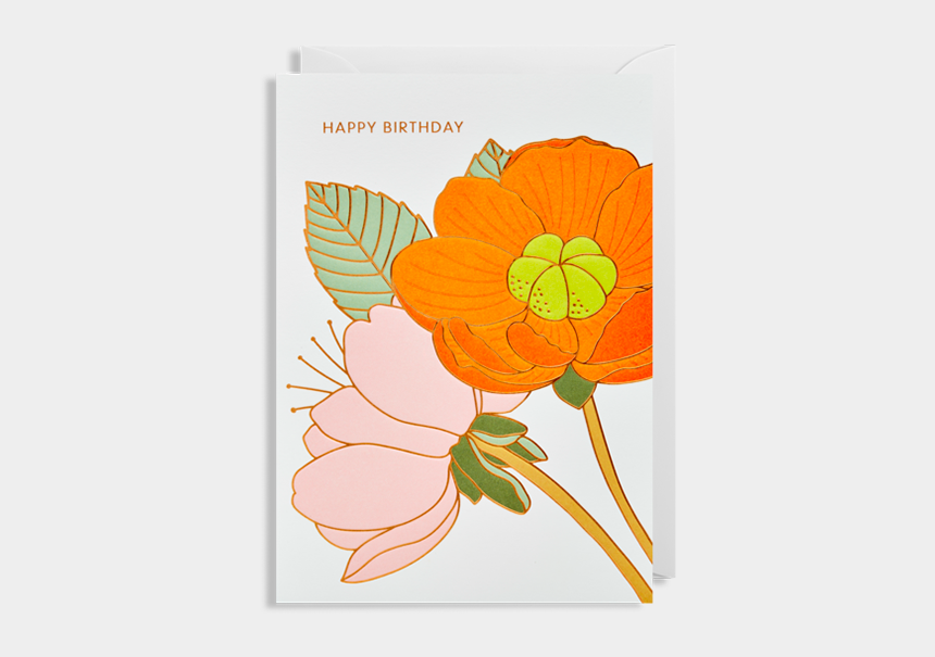modern flower clip art, Cartoons - Flowers Flower Happy Birthday Lagom Hanna-werning Funky - Happy Birthday Modern Flower