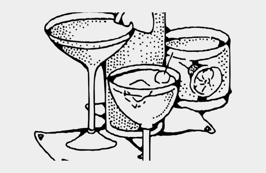 drinking water clipart black and white, Cartoons - Drinks Clipart Black And White