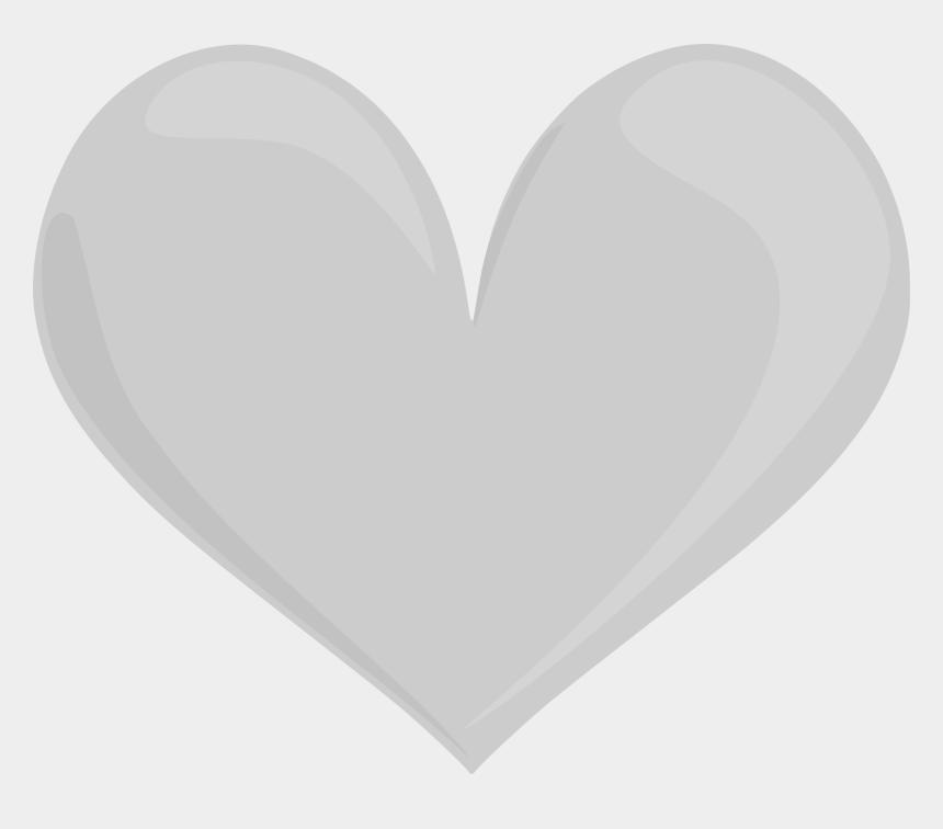 open heart clip art, Cartoons - Silver Heart