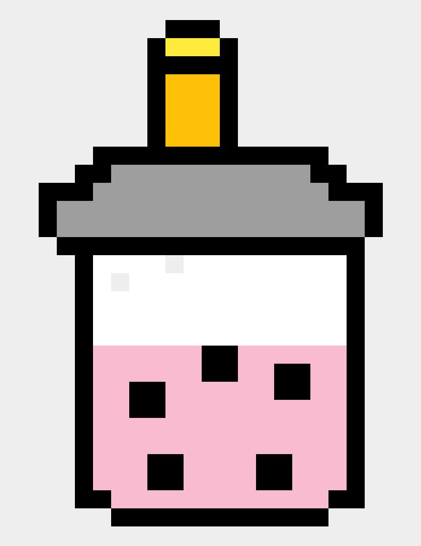 bubble tea clip art, Cartoons - Milk Tea 8 Bit