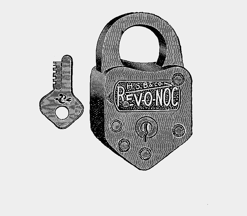 lock and key clip art, Cartoons - Illustration