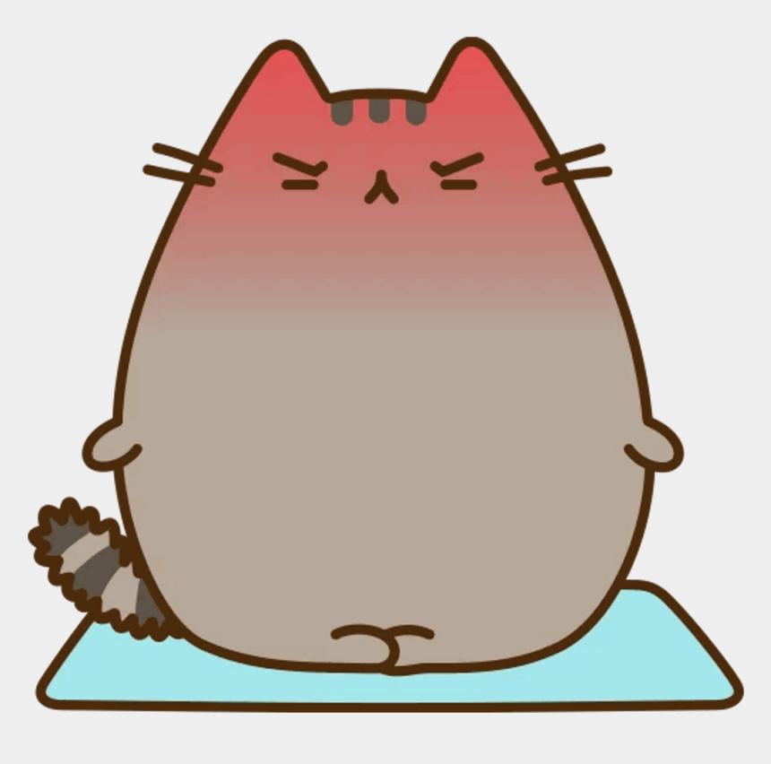 calm clip art, Cartoons - Calm Clipart Yoga - Pusheen Cat Png