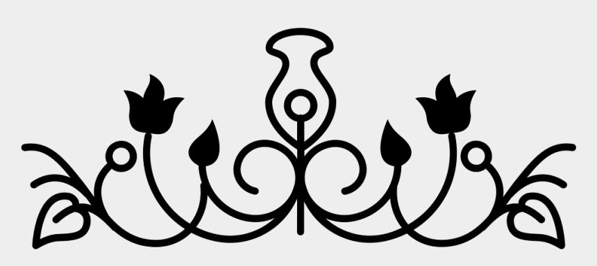 vine clip art black and white, Cartoons - Flower Bell Outline Design Variant With Vines And Leaves - Flower Design Png Horizontal