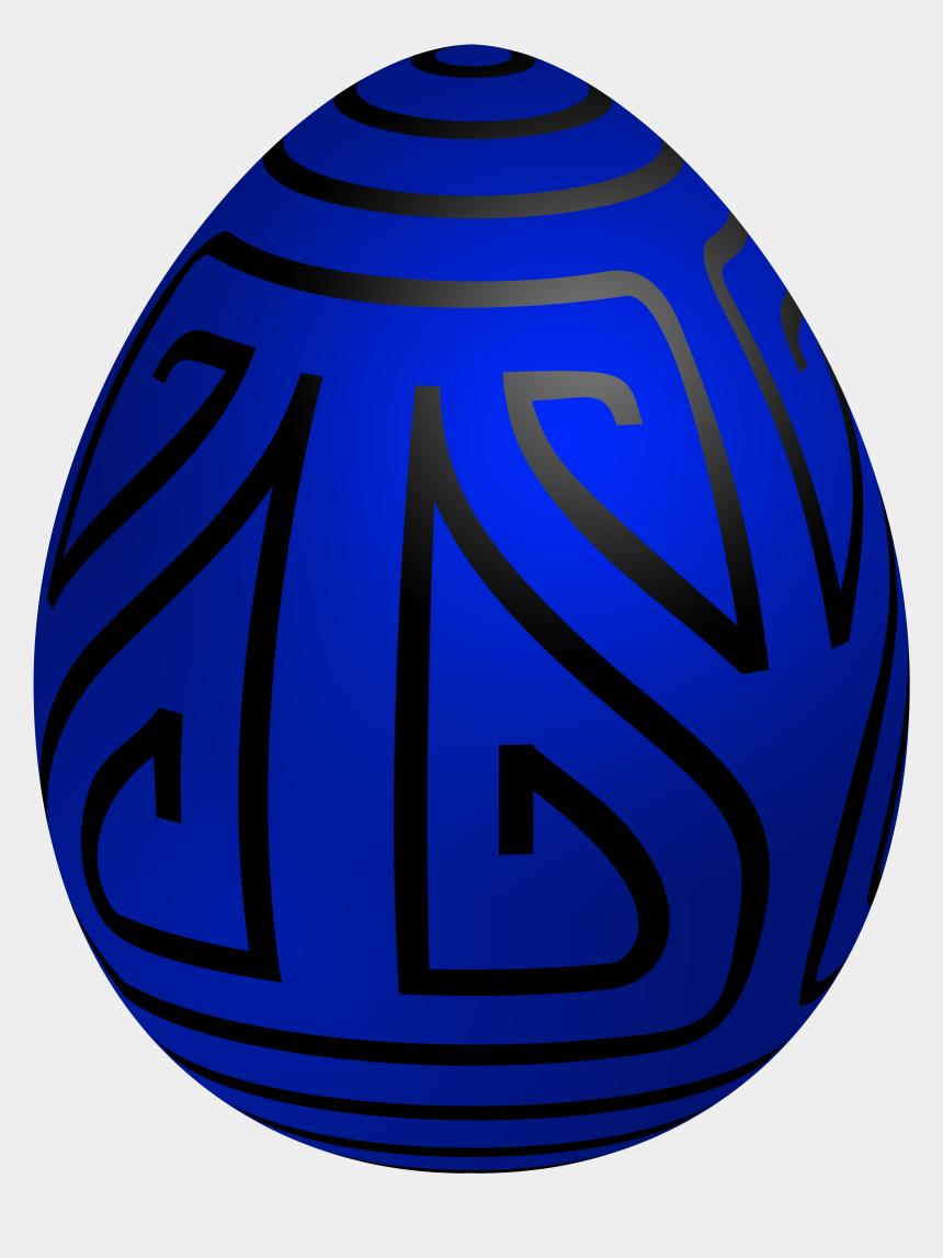 art deco fan clip art, Cartoons - Easter Blue Deco Egg Png Clip Art