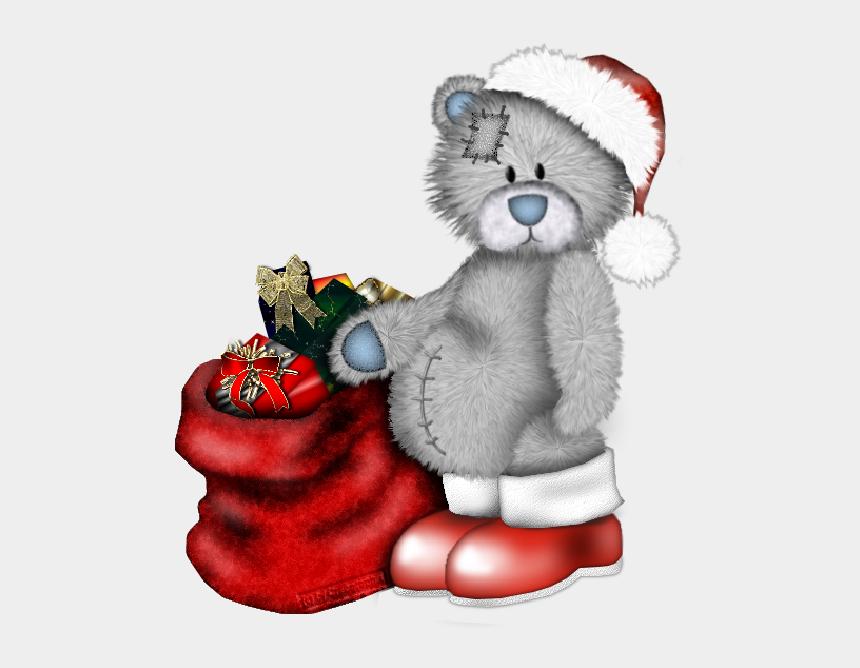 christmas teddy bear clip art, Cartoons - Clipart Christmas Tatty Teddy