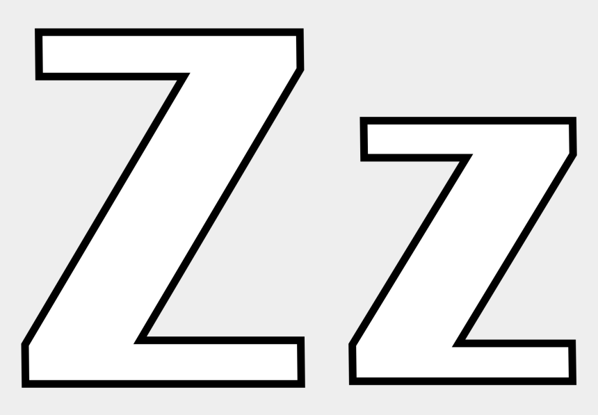 letters clipart black and white, Cartoons - Letter Z Coloring Pages - Letter Z Clipart Black And White