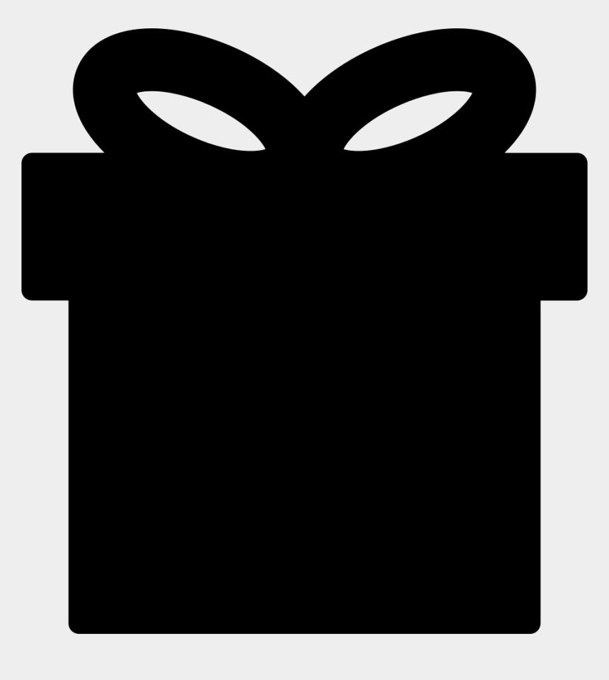 gift box clip art black and white, Cartoons - Gift Box Black Shape - Black Gift Box Png