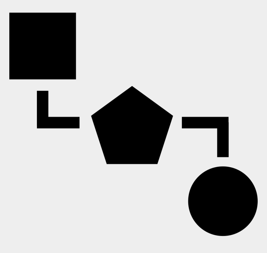 geometric shapes clip art, Cartoons - Blocks Scheme Of Three Black Geometric Shapes Comments - Scheme Icon Png