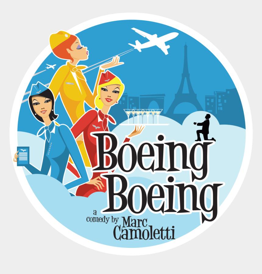 theatre images clip art, Cartoons - Americana Theatre Company Presents Boeing Boeing - Boeing Boeing Play Sign