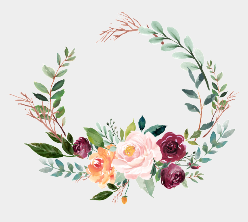 flower wreath clip art, Cartoons - Transparent Background Floral Wreath Png