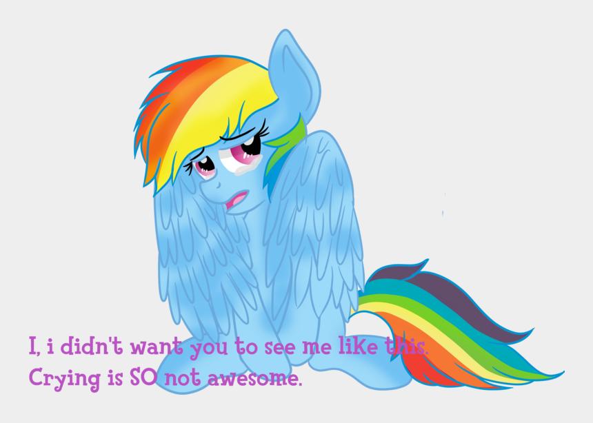 sadness clip art, Cartoons - Rainbow Dash Crying