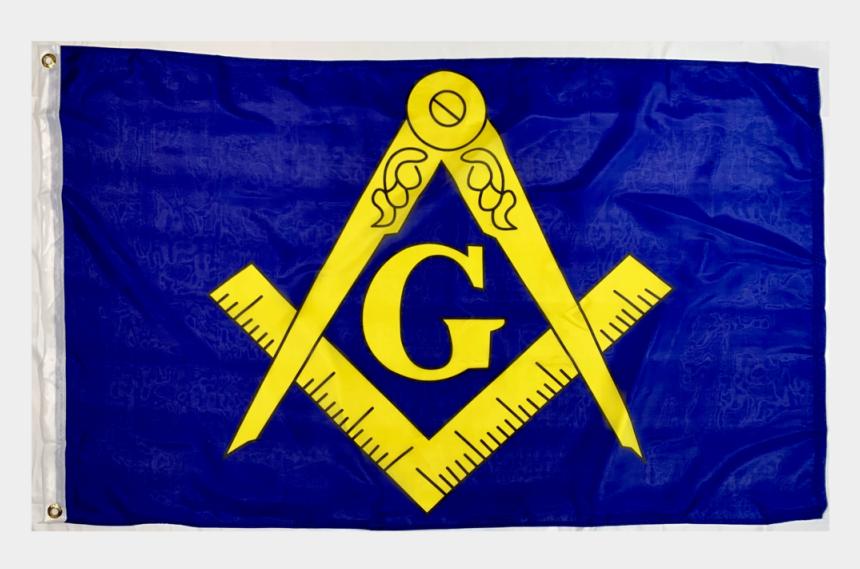 masonic emblem clip art, Cartoons - Masonic Flag Yellow Logo Blue Field 3 X 5 Ft - Masonic Gold Blue