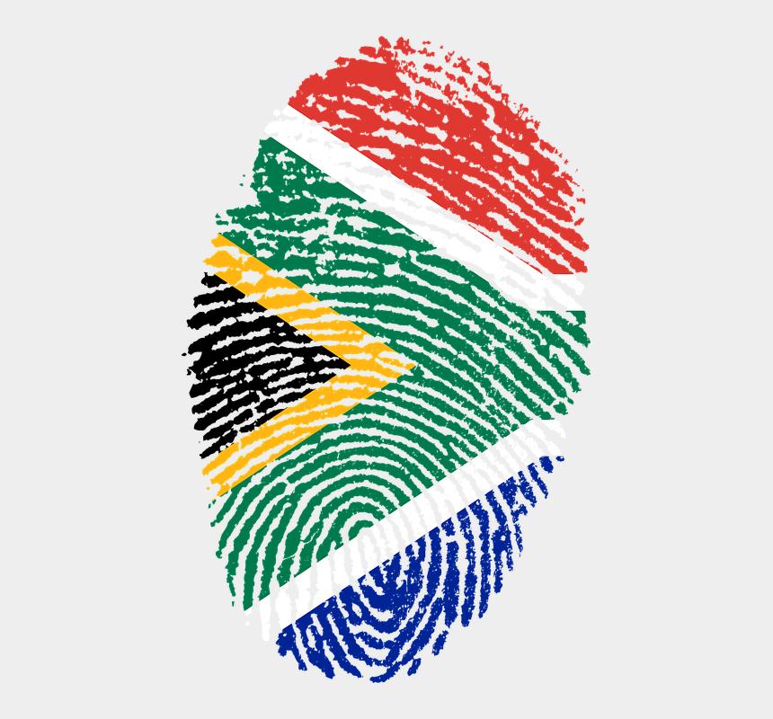finger print clip art, Cartoons - South Africa, Flag, Fingerprint, Country, Pride - South African Flag Png