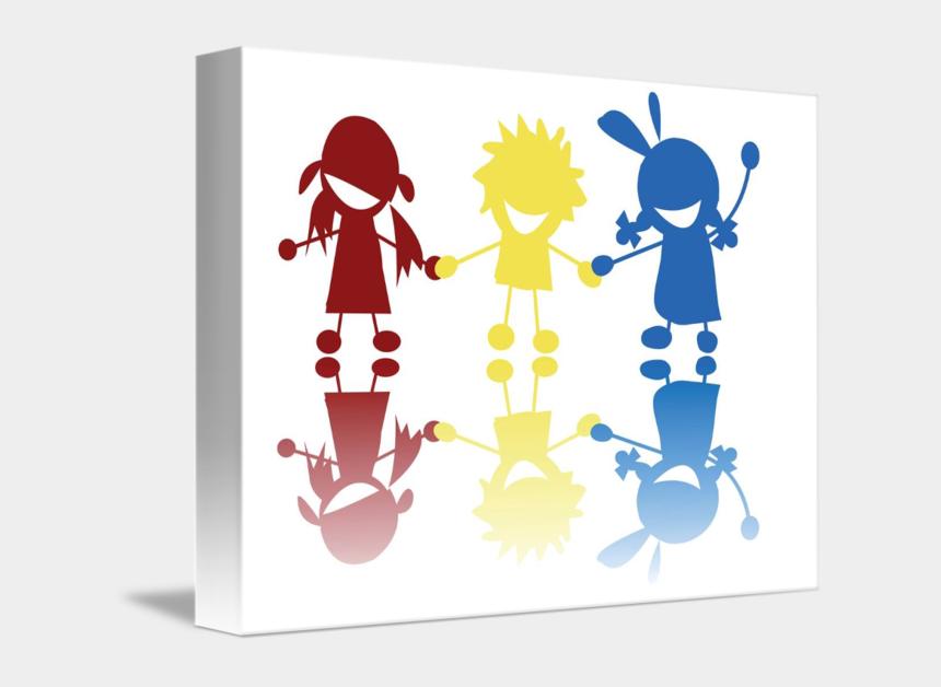children holding hands clip art, Cartoons - Silhouette Stock Photography Drawing - Siluetas Niños Color