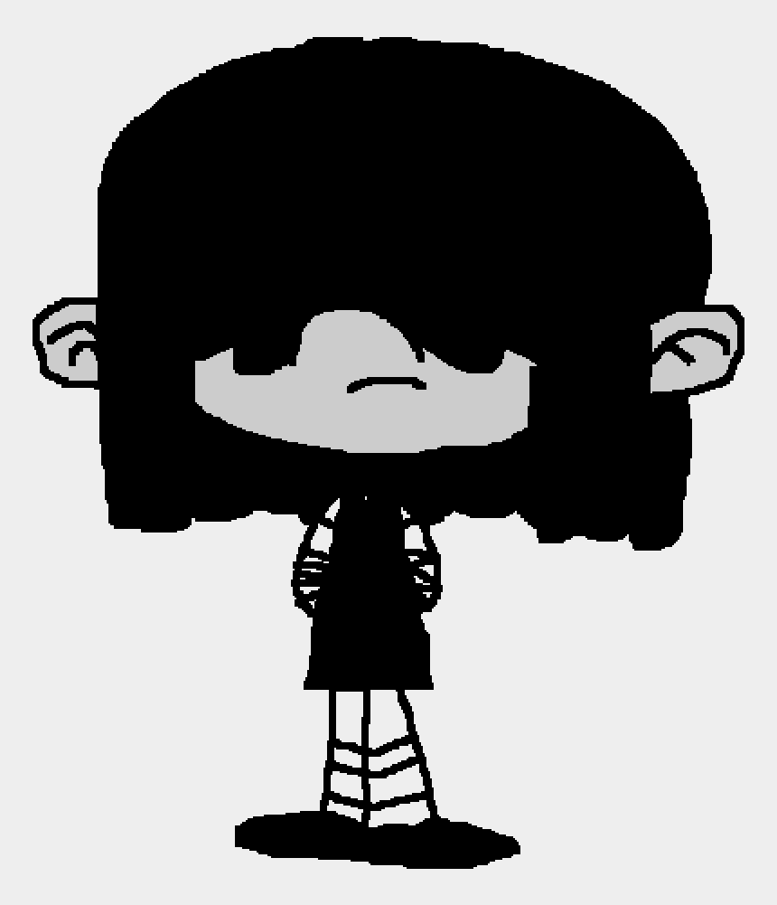 i love lucy clip art, Cartoons - Lucy Loud In Black And White