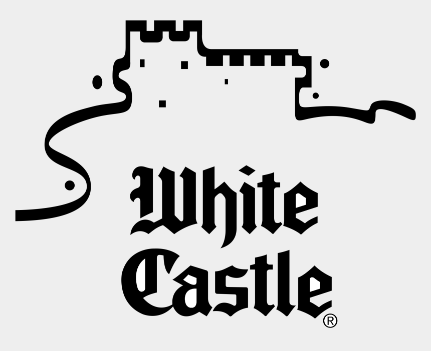 castle clip art black and white, Cartoons - White Castle Logo Black And White - White Castle