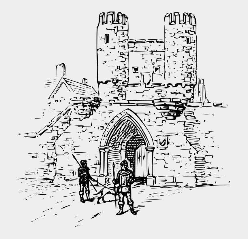castle clip art black and white, Cartoons - Line Art,art,area - Coloring Pages Rhodes Medieval Castle