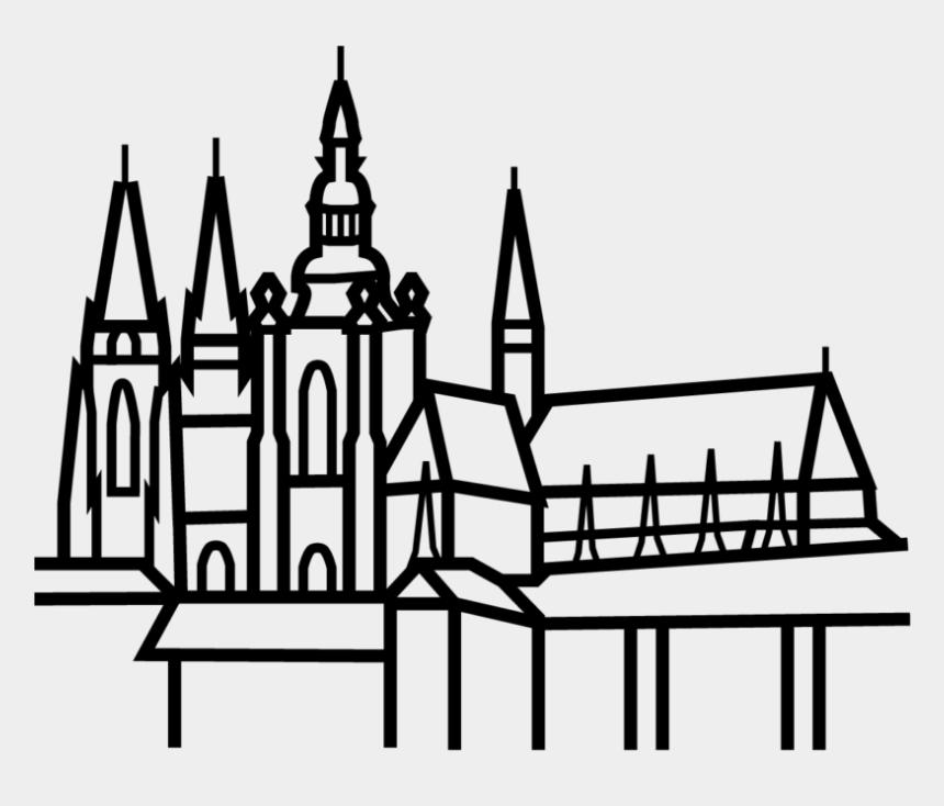 castle clip art black and white, Cartoons - Spire