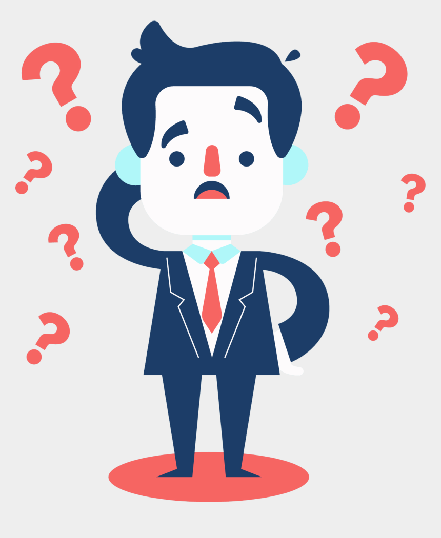 animated question mark clip art, Cartoons - Question Suit Guy - Clipart Man With Question Mark