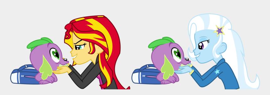 eye contact clip art, Cartoons - Spike Gets All Equestria Girl