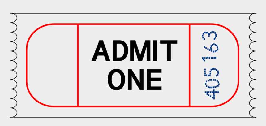 ticket images clip art, Cartoons - Admit One Vector Free Download