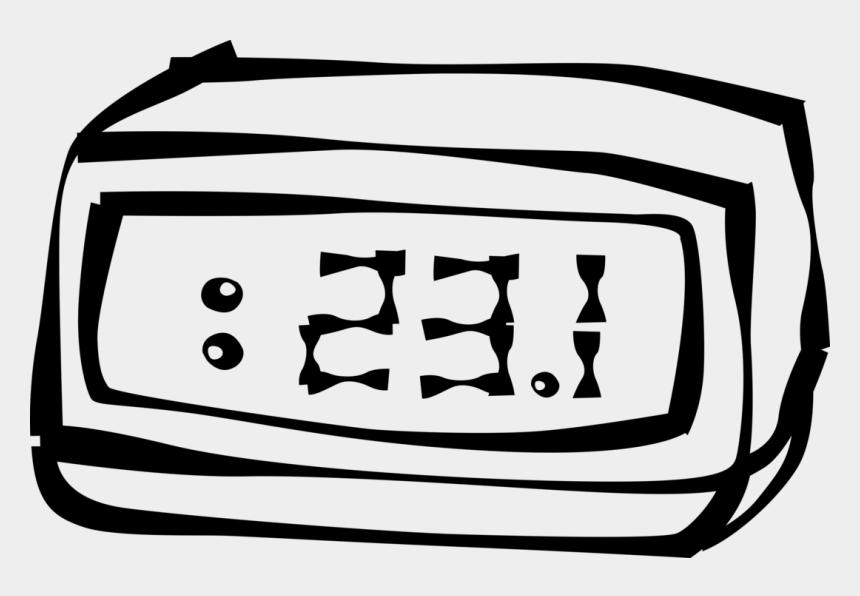 digital clock clip art, Cartoons - Vector Illustration Of Digital Clock Radio Awakens