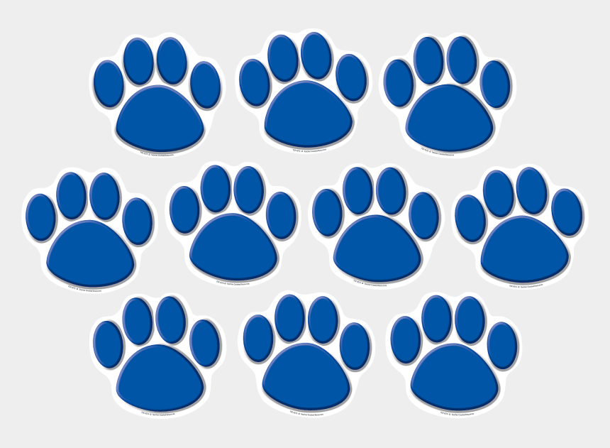 tiger paw print clipart, Cartoons - Blue Paw Prints Accents Tcr4275 Teacher Created Resources - Teacher Created Resources Green Paw