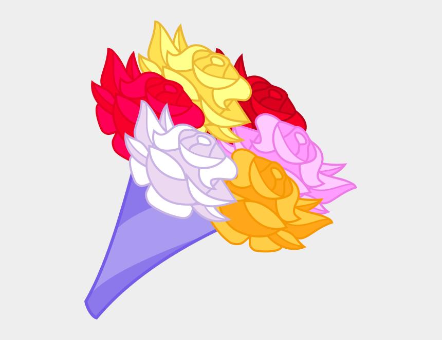 simple rose clip art, Cartoons - Vector Bouquet Rose - Bundle Of Flowers Cartoon