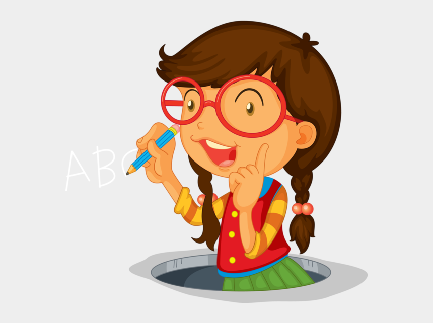 learning centers clip art, Cartoons - Kid Studying Vector