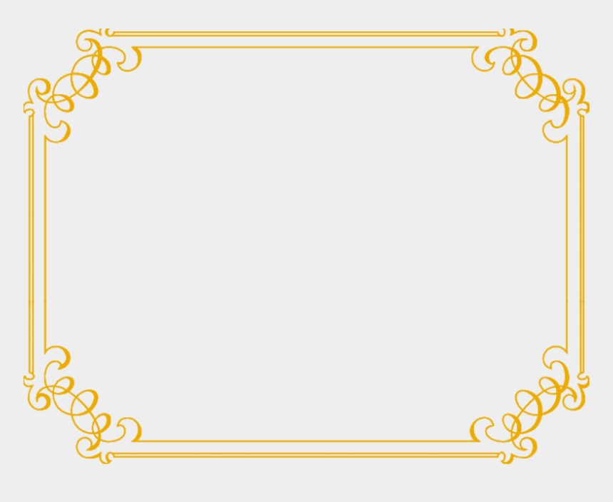 gold clipart, Cartoons - Gold Clipart Fancy - Border For Wedding Png