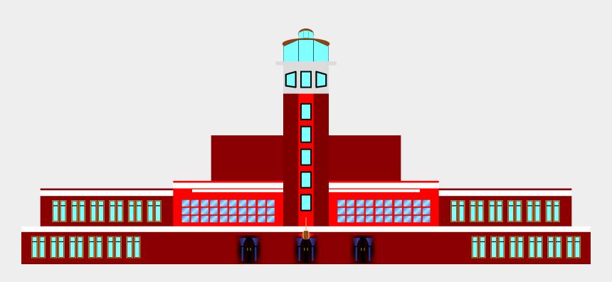 airport clipart, Cartoons - Art Deco Air Terminal Big Image Png - Airport Terminal Clipart Png