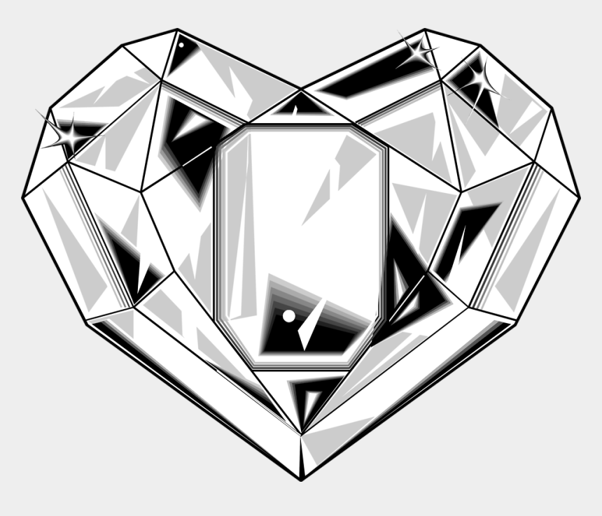 Diamond heart. Clipart shape png cliparts