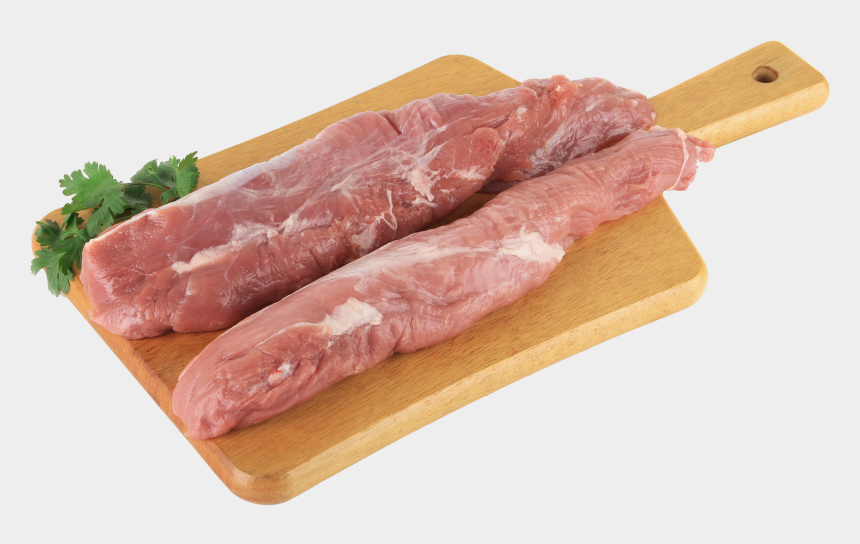 meat clipart, Cartoons - Board With Meat And Parsley Png Clipart - High Resolution Pork Meat
