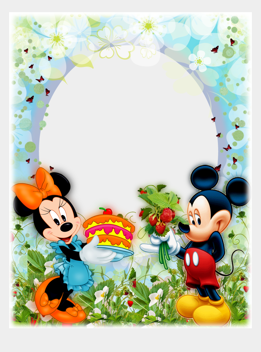disney clipart, Cartoons - Mickey Mouse Frame, Mickey Minnie Mouse, Disney Theme, - Mickey Mouse Frame Png