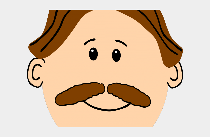 hair clipart, Cartoons - Brown Hair Clipart Big - Man Face Clip Art
