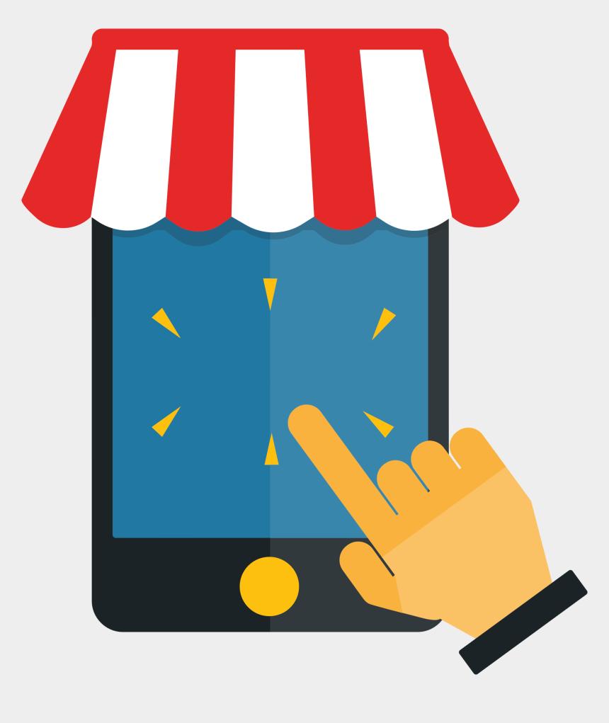 shopping clipart, Cartoons - Shop Clipart Mobile Shop - Online Shopping Cart Clipart