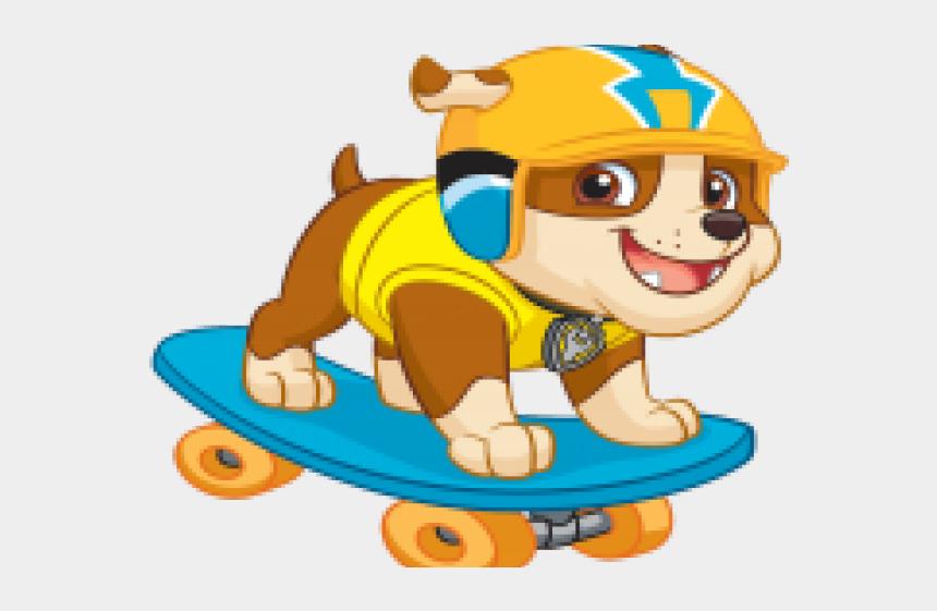 skateboard clipart, Cartoons - Skateboard Clipart Transparent Background - Rubble Paw Patrol Clipart