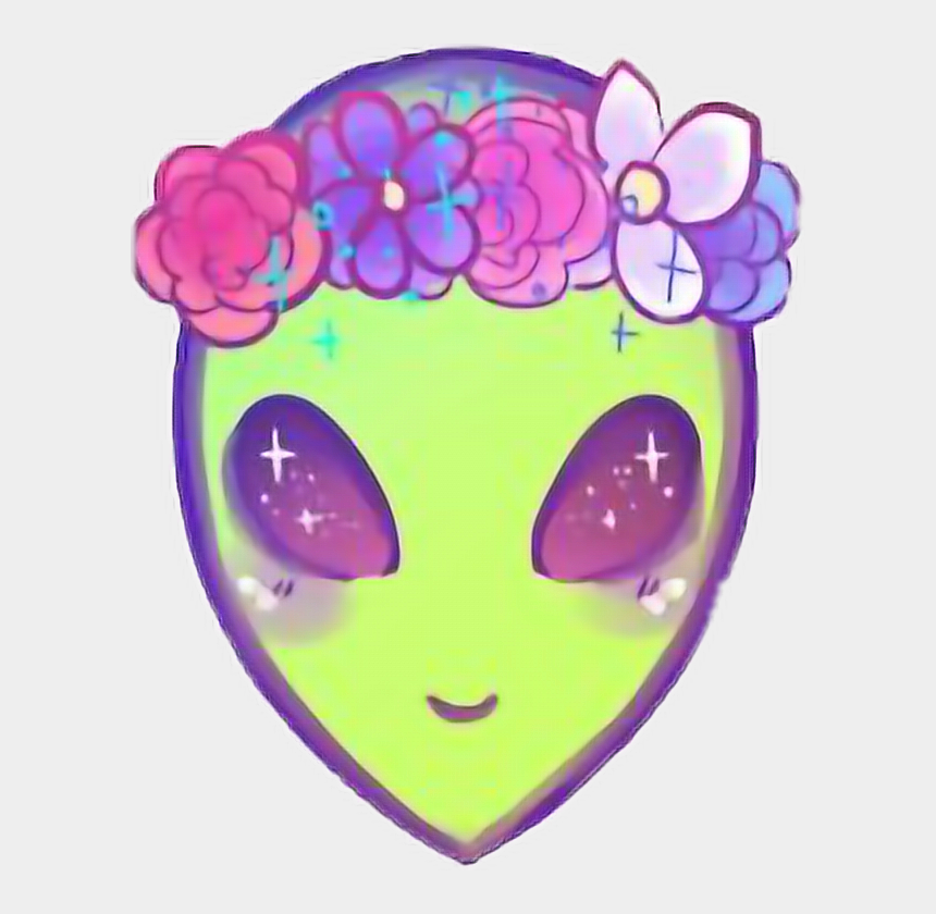 alien clipart, Cartoons - Alien Ovni Kawaii Cute Girl Girl Tumblr Freetoedit - Alien Kawaii