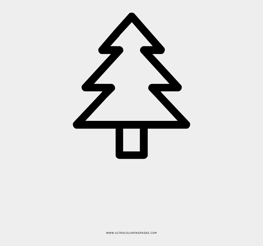 pinetree clip art, Cartoons - Pine Tree Coloring Page - Christmas Tree Outline Png