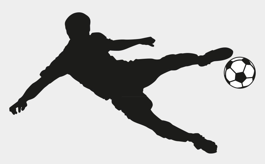 playing soccer clip art, Cartoons - Football Player Wall Sticker Room - Football Player Logo Png